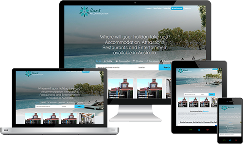 Accommodation Resorts displayed beautifully on multiple devices