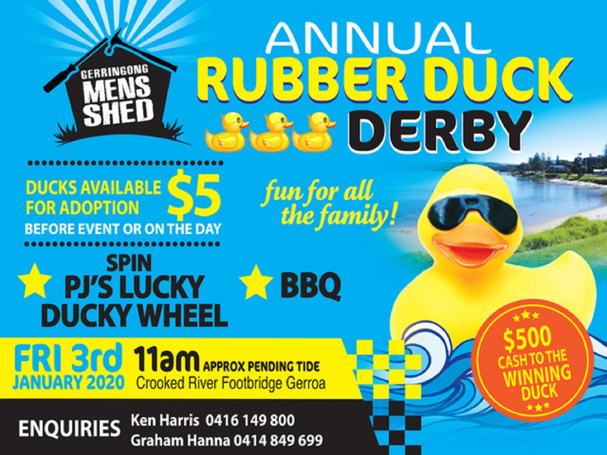 Gerringong Mens Shed Annual Duck Derby - Accommodation Resorts