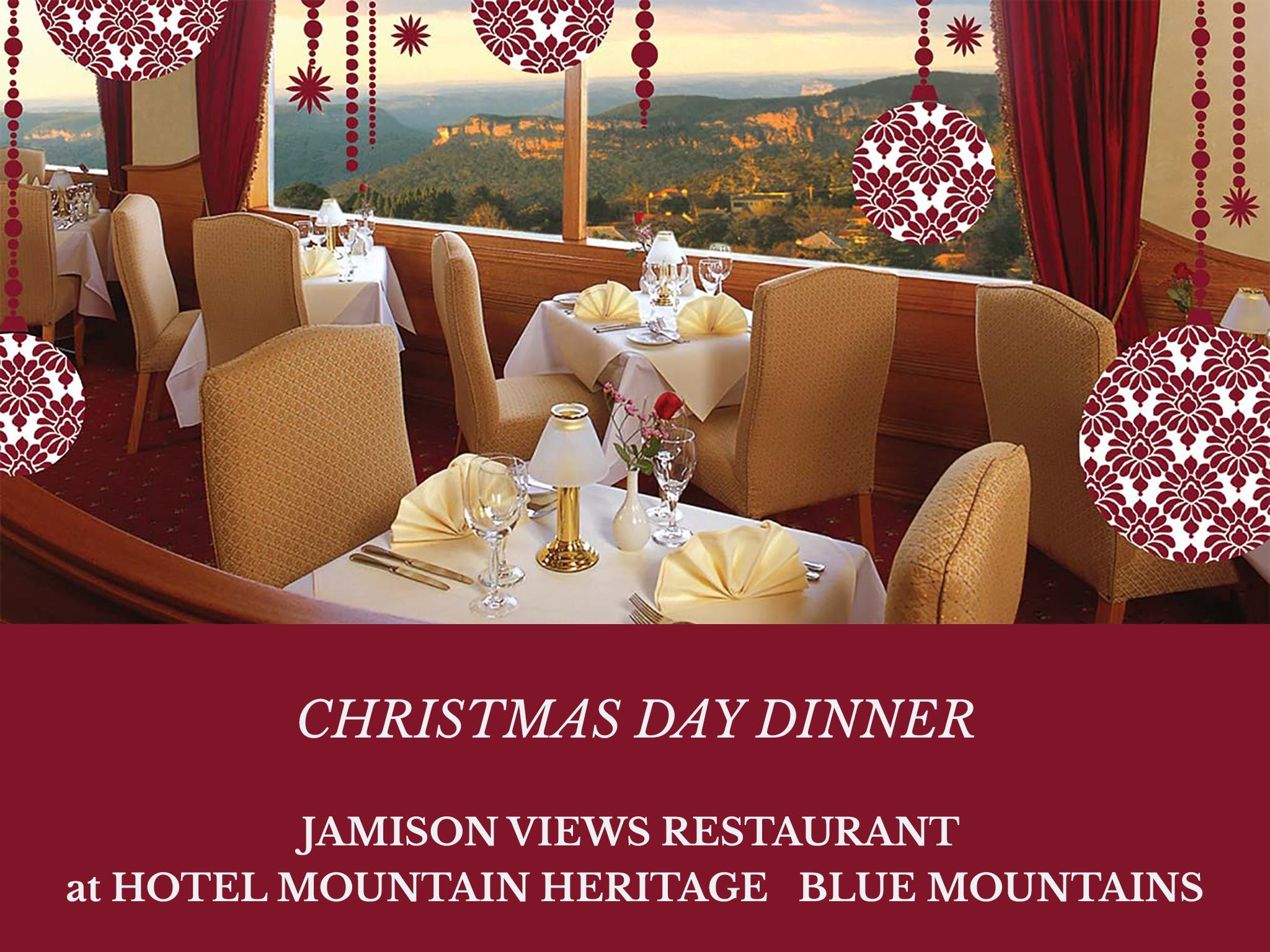 Christmas Day Dinner Hotel Mountain Heritage - Accommodation Resorts